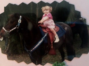 Amandalynn Mayo - Two-Years-Old with Horse
