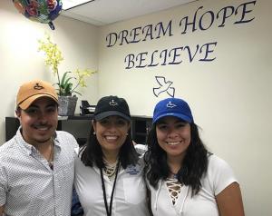 Alexander, Maria and Gabriela Hernandez, smiling together